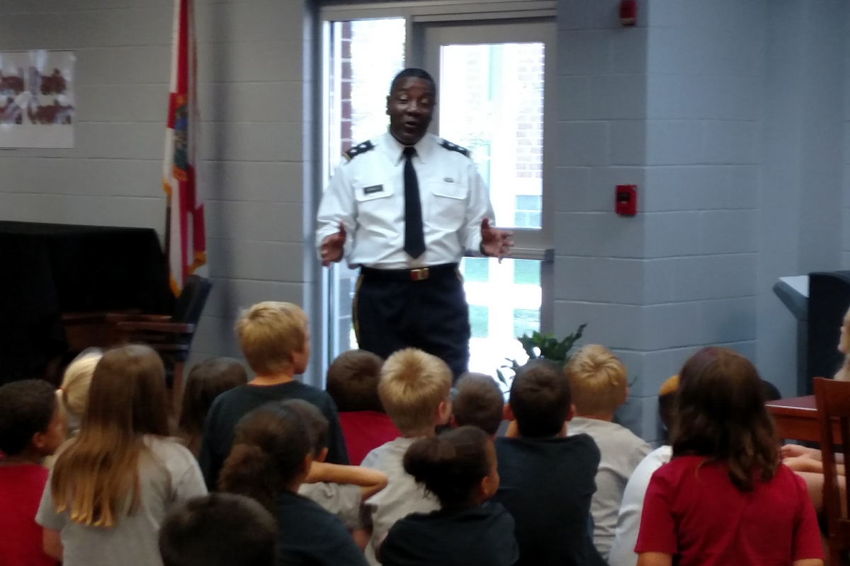 General Donald's visit is part of a program by SGIUMC's School Partnership to expose children to many different potential career paths