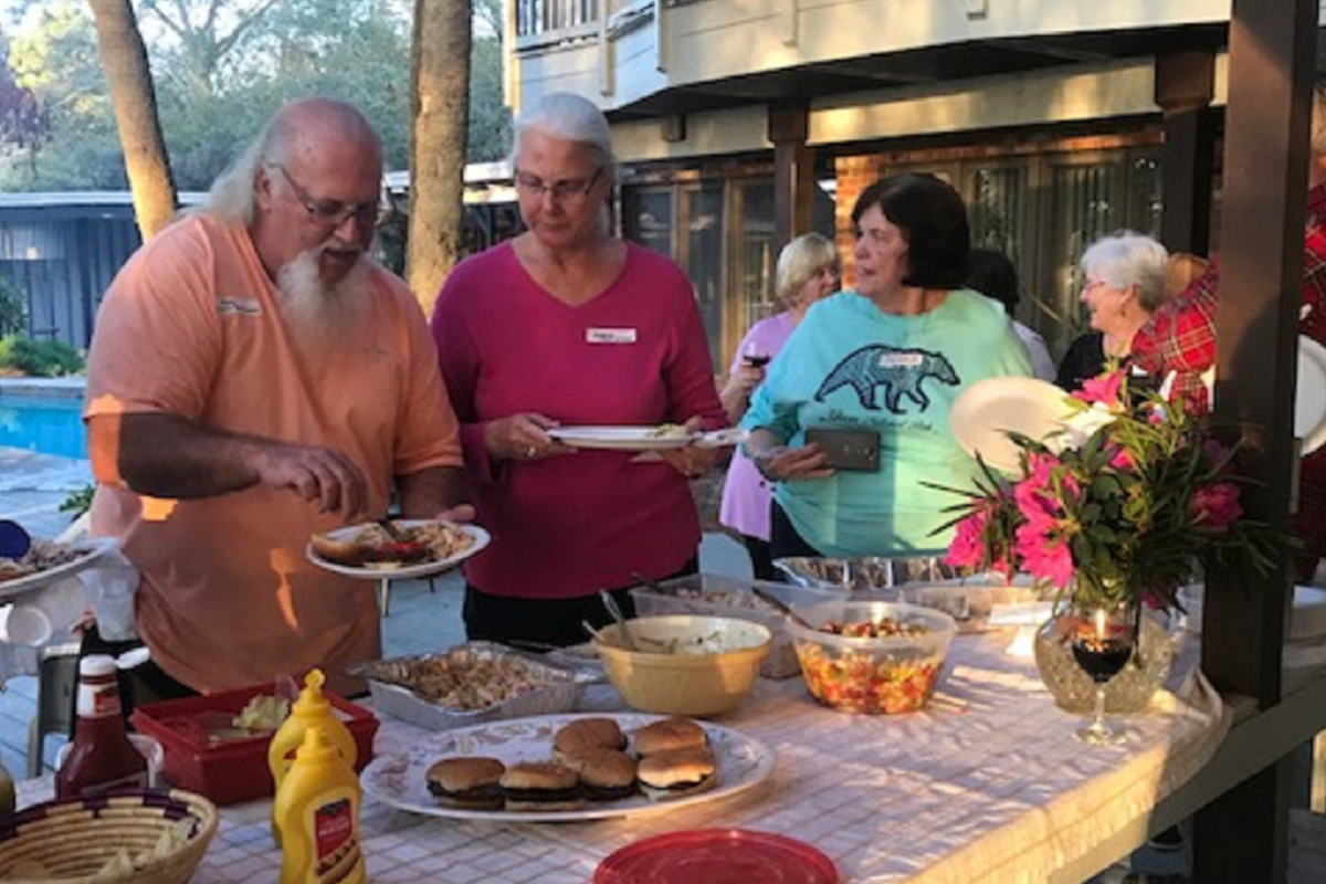 Joyce Estes hosted our guests from Trinity UMC on Saturday evening
