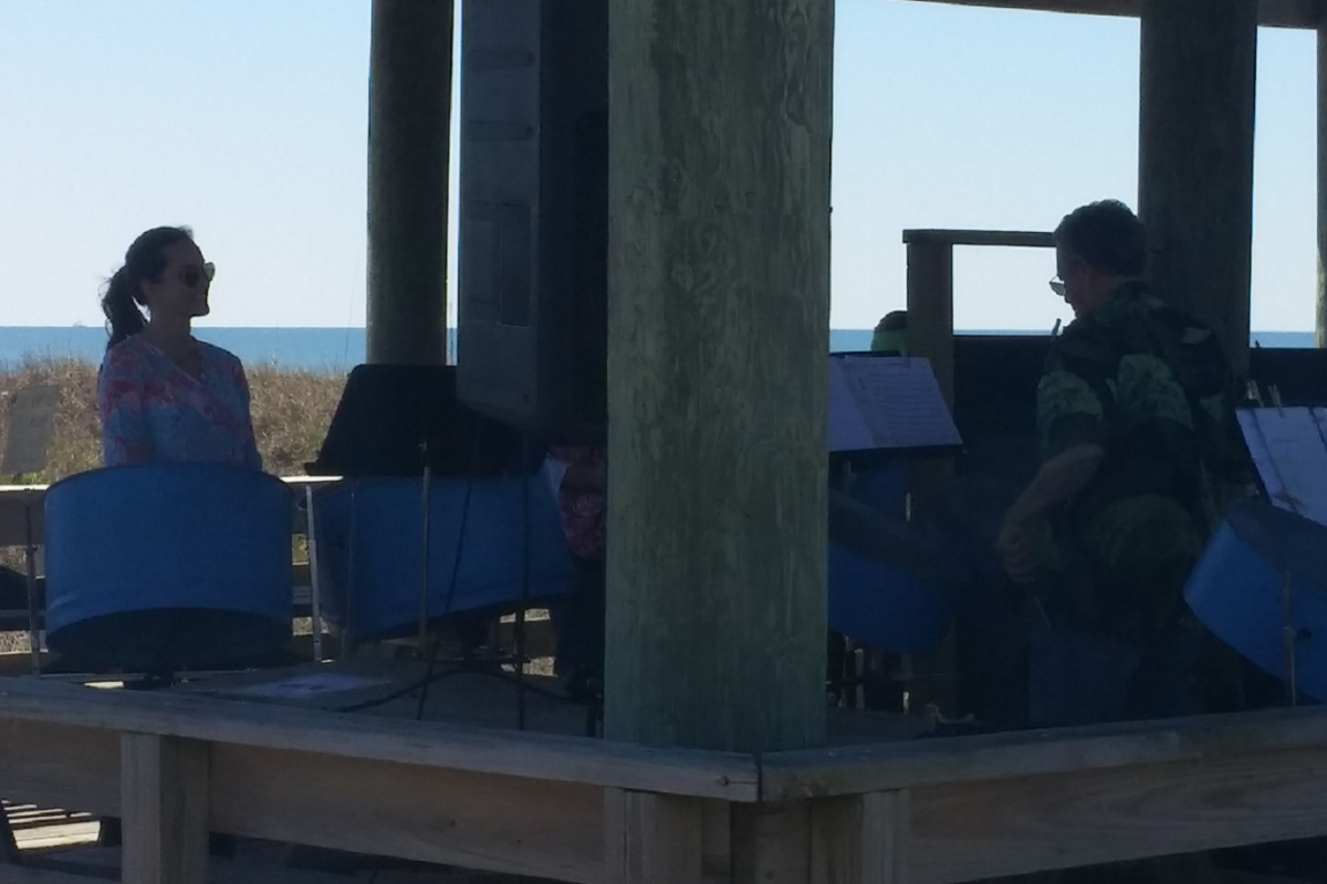 Music lovers of all ages were delighted by the joyful sound of steel drums