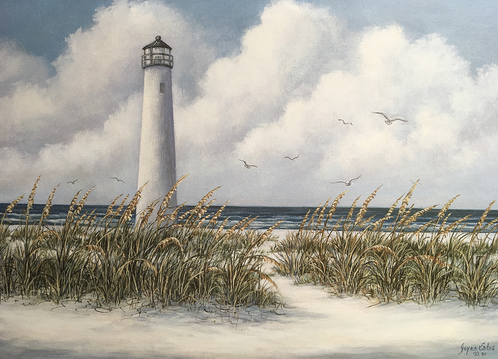 Painting of SGI Lighthouse by Joyce Estes