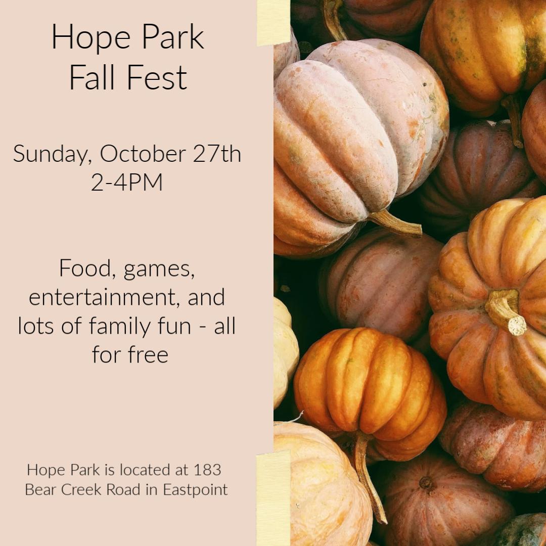 Hope Park Fall Fest 2019