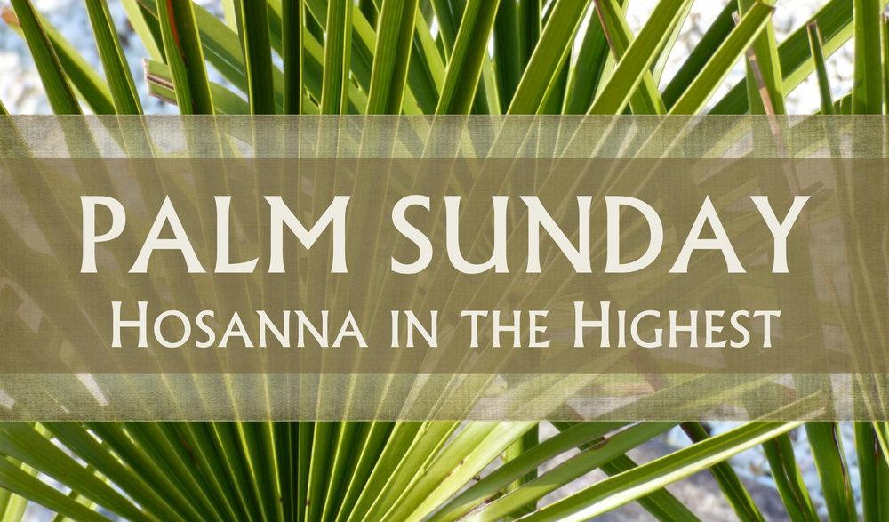 Prayer for Palm Sunday