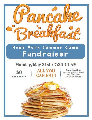 Camp Fundraiser Pancake Breakfast